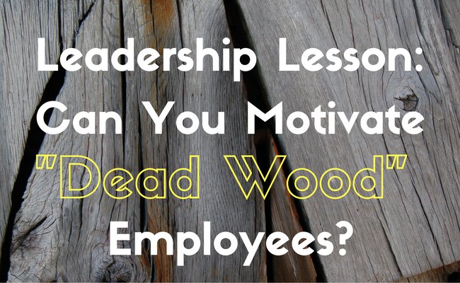 "Leadership Lesson: Can You Motivate ""Dead Wood"" Employees?"