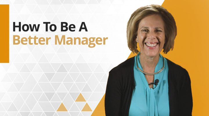 Graphic title for How to be a better manager