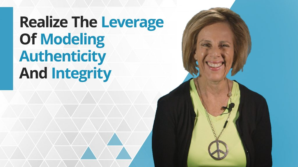 Graphic title for Realize the leverage of modeling authenticity and integrity