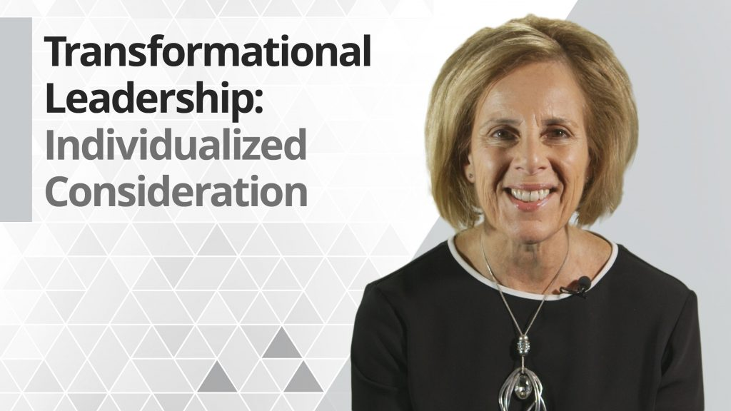 Graphic title for Transformational Leadership: Individualized Consideration
