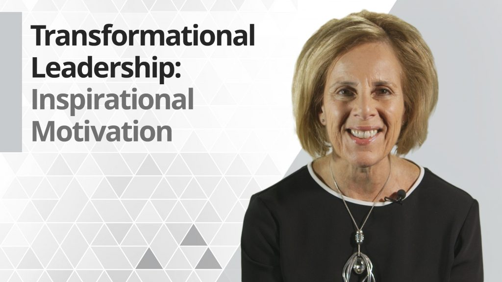 Graphic title for Transformational leadership: Inspirational Motivation