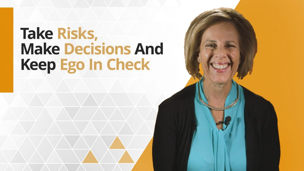 Graphic title for Essential Leadership: Take Risk. Make Decisions. Keep Ego in Check