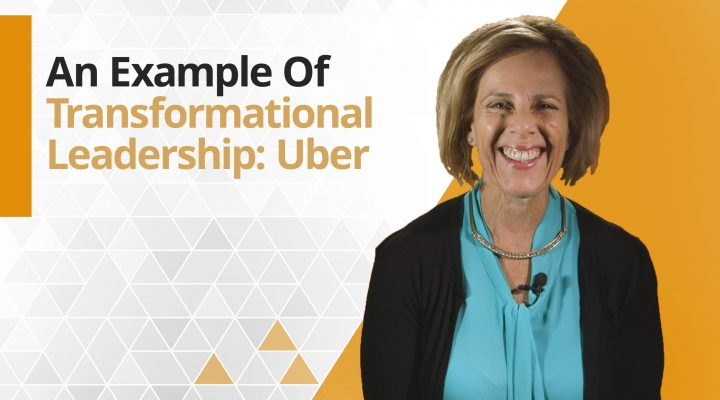 Graphic title for An example of Transformational Leadership: Uber